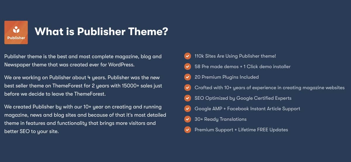 Publisher Pro - Magazine, Blog, Newspaper and Review WordPress Theme